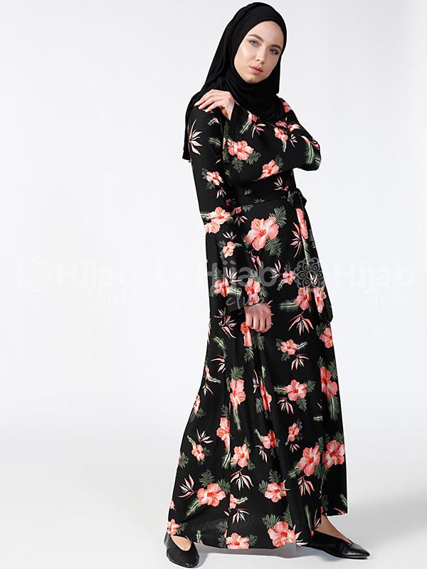 Hibiscus flower dress blacksalmon hijab club hibiscus flower dress blacksalmon izmirmasajfo